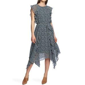 NEW Cascading Calico Ruffle Dress
